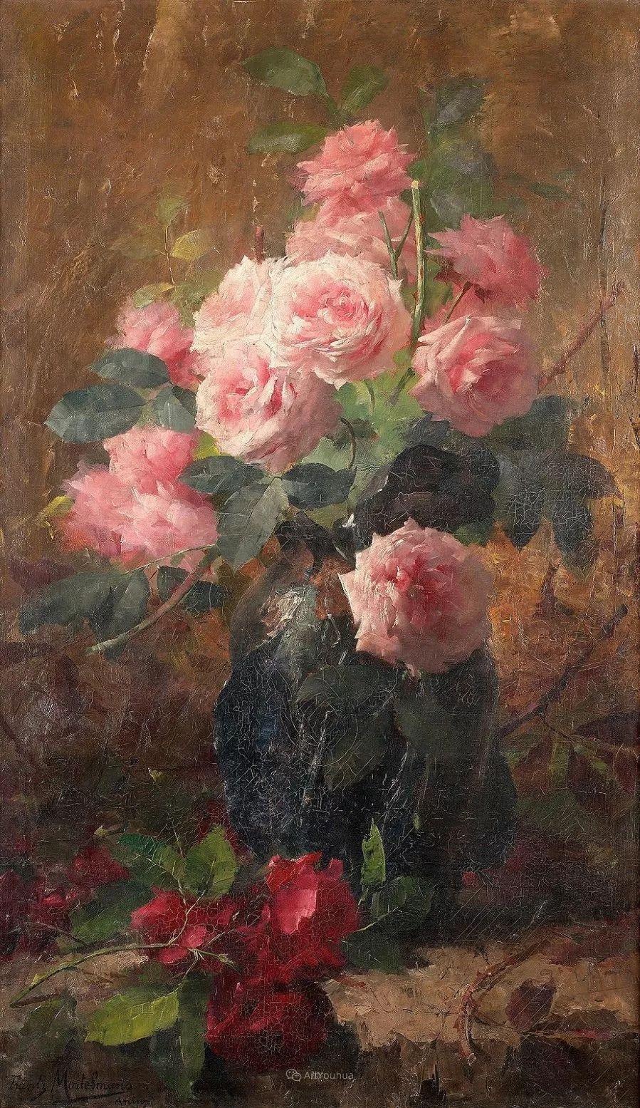 美丽的玫瑰花,印象派和现实主义之间——比利时Frans Mortelmans插图21