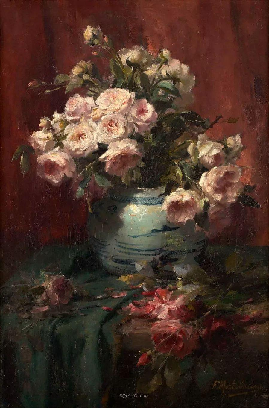 美丽的玫瑰花,印象派和现实主义之间——比利时Frans Mortelmans插图31