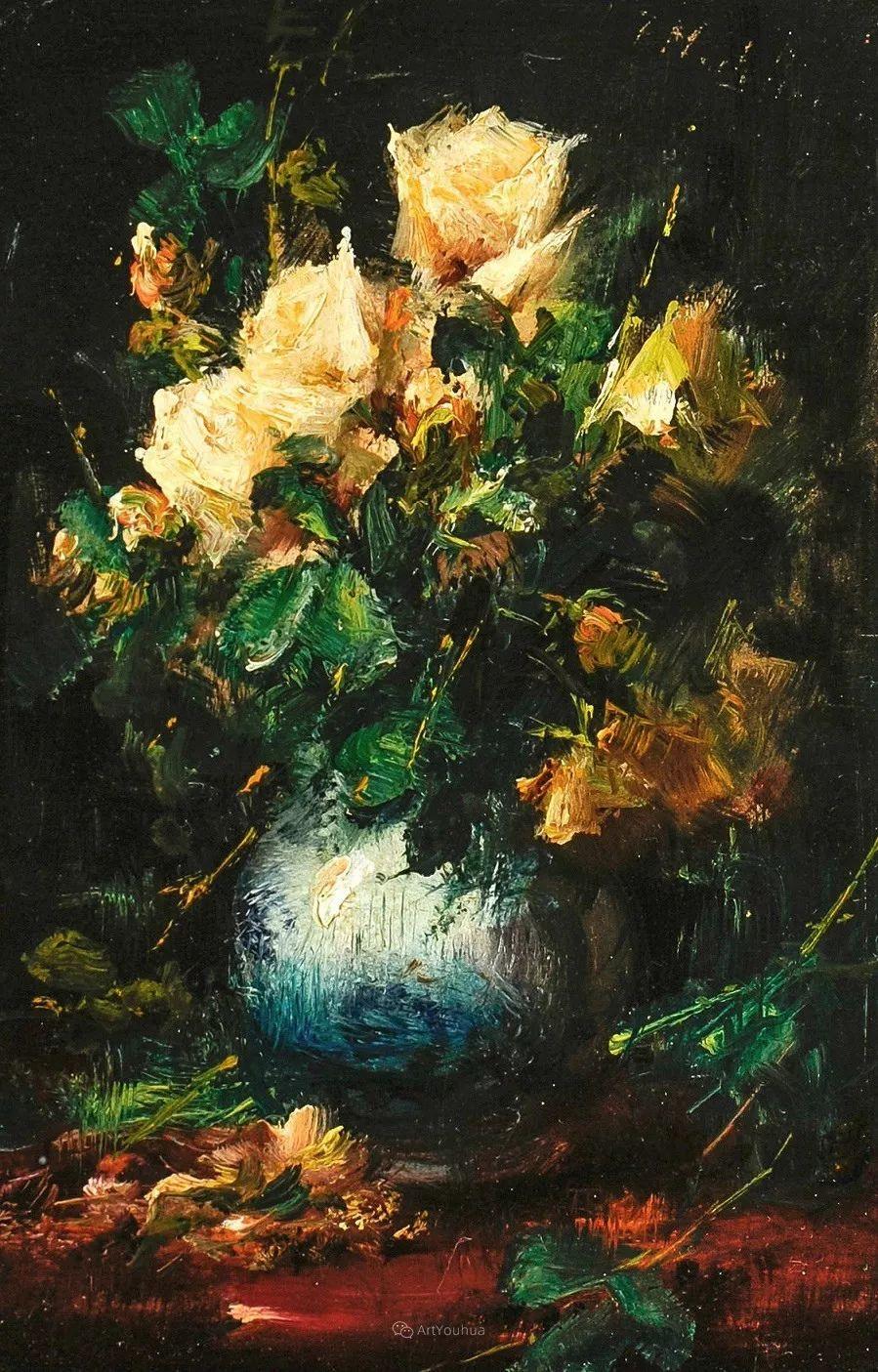 美丽的玫瑰花,印象派和现实主义之间——比利时Frans Mortelmans插图16