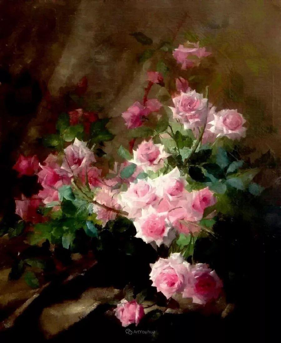 美丽的玫瑰花,印象派和现实主义之间——比利时Frans Mortelmans插图35