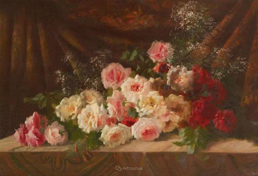 美丽的玫瑰花,印象派和现实主义之间——比利时Frans Mortelmans插图19