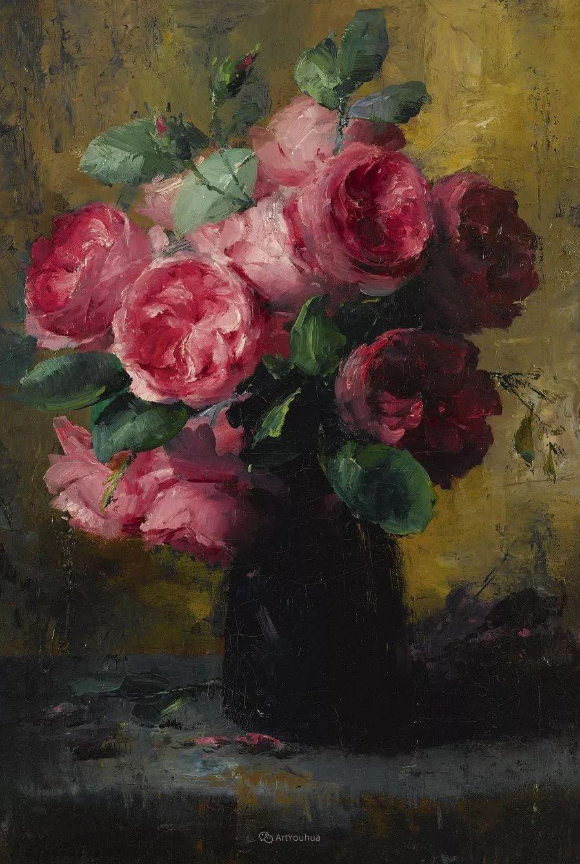 美丽的玫瑰花,印象派和现实主义之间——比利时Frans Mortelmans插图43