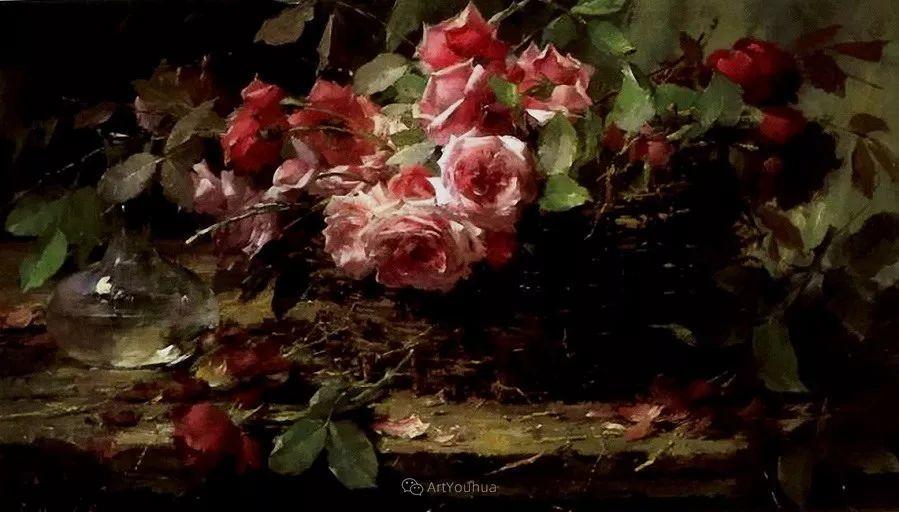 美丽的玫瑰花,印象派和现实主义之间——比利时Frans Mortelmans插图22