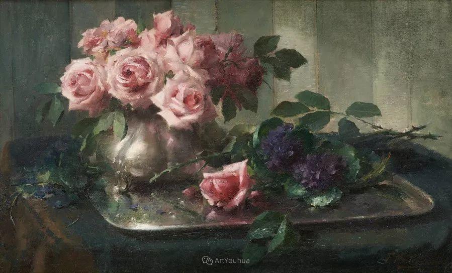 美丽的玫瑰花,印象派和现实主义之间——比利时Frans Mortelmans插图25