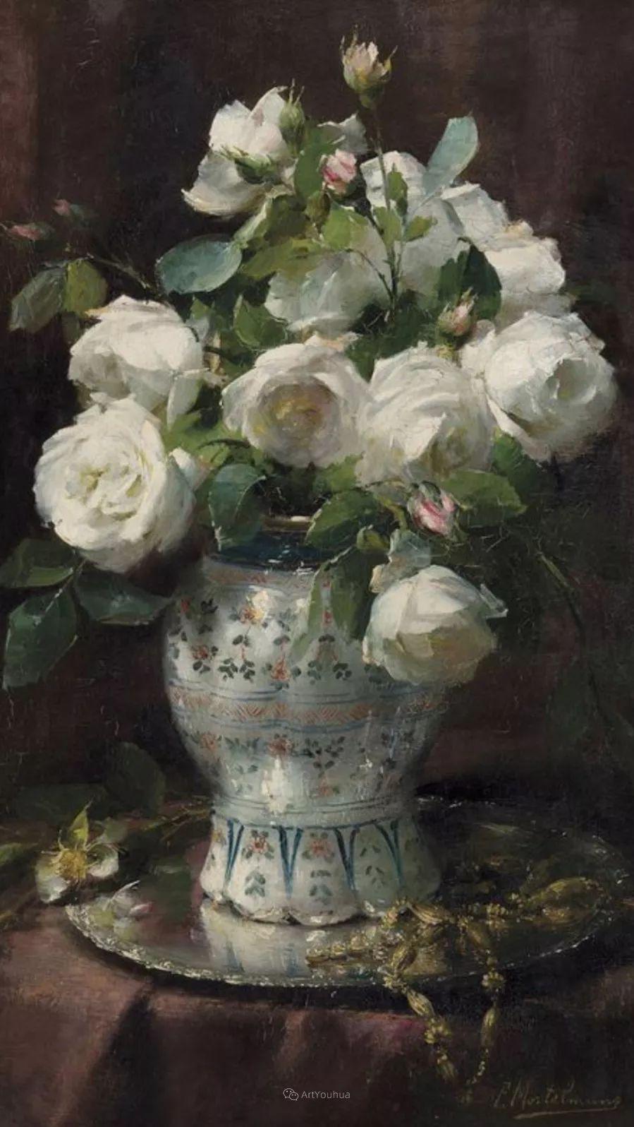 美丽的玫瑰花,印象派和现实主义之间——比利时Frans Mortelmans插图26