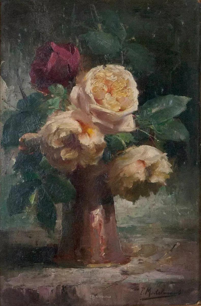 美丽的玫瑰花,印象派和现实主义之间——比利时Frans Mortelmans插图30
