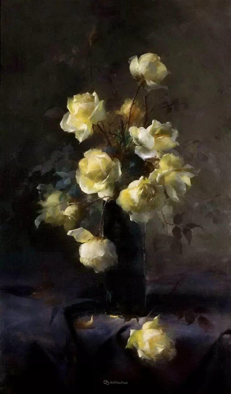 美丽的玫瑰花,印象派和现实主义之间——比利时Frans Mortelmans插图63