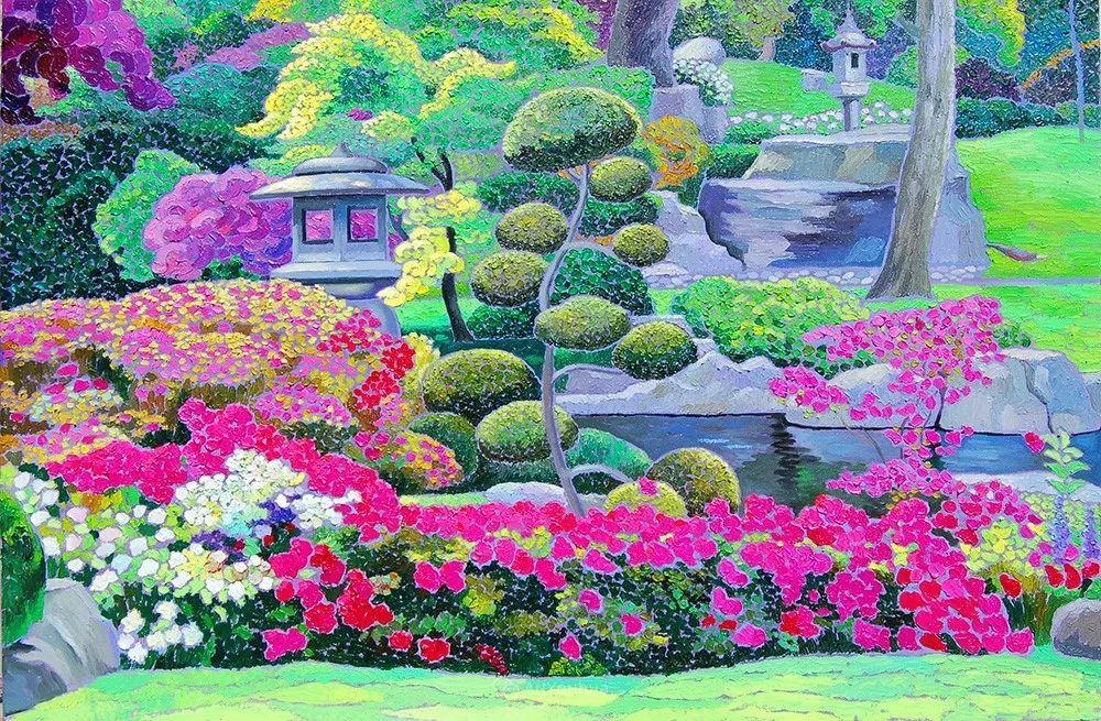 色彩纷繁的鲜花——乌克兰画家Dmitry Dobrovolsky插图1
