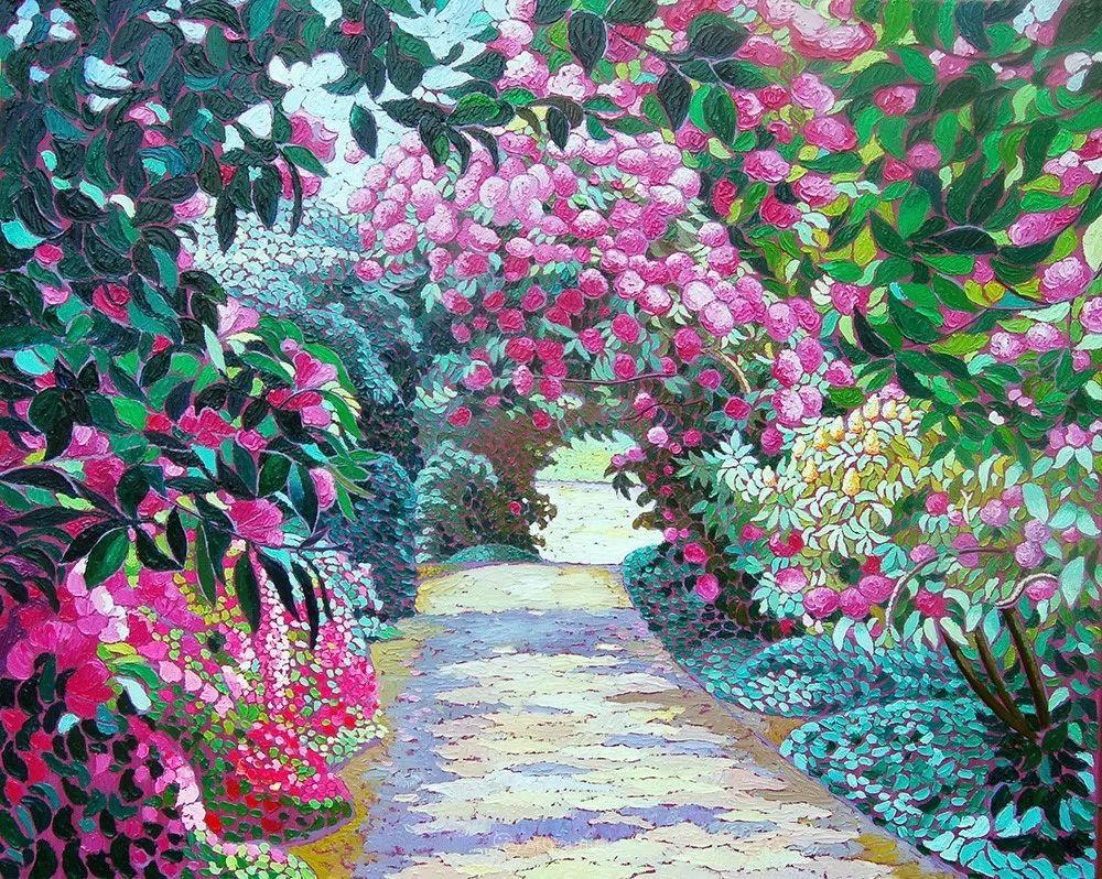 色彩纷繁的鲜花——乌克兰画家Dmitry Dobrovolsky插图5