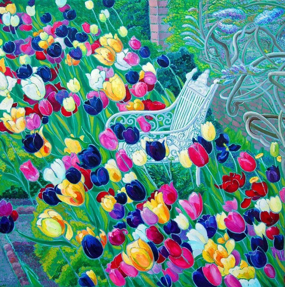 色彩纷繁的鲜花——乌克兰画家Dmitry Dobrovolsky插图7