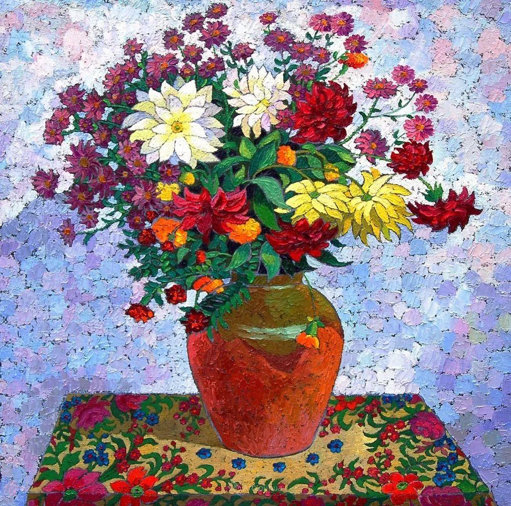 色彩纷繁的鲜花——乌克兰画家Dmitry Dobrovolsky插图43