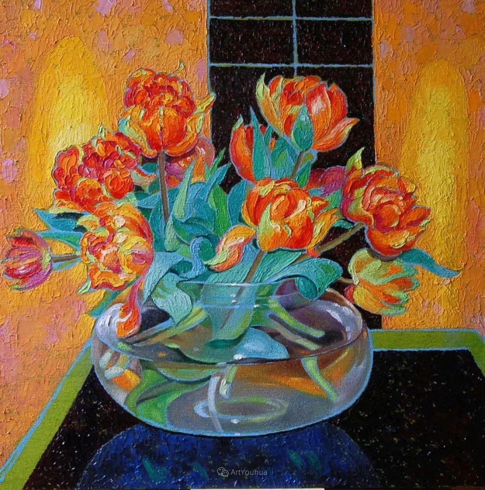 色彩纷繁的鲜花——乌克兰画家Dmitry Dobrovolsky插图47
