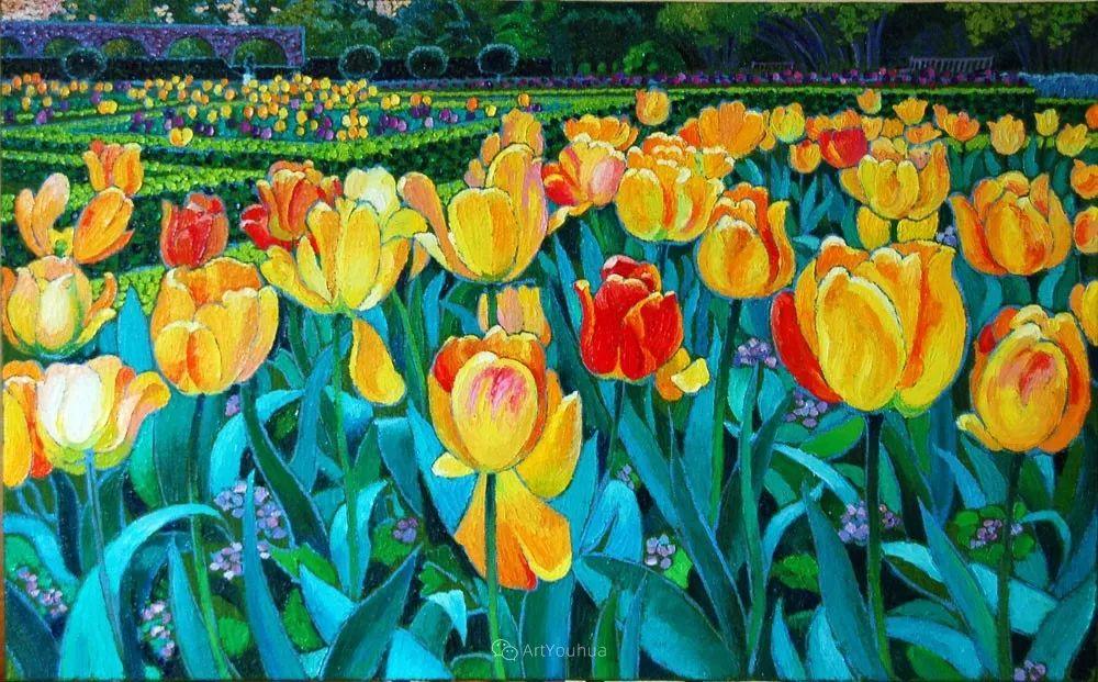 色彩纷繁的鲜花——乌克兰画家Dmitry Dobrovolsky插图49
