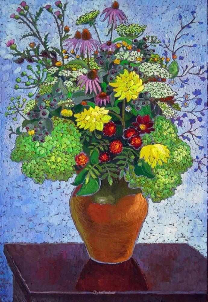 色彩纷繁的鲜花——乌克兰画家Dmitry Dobrovolsky插图57