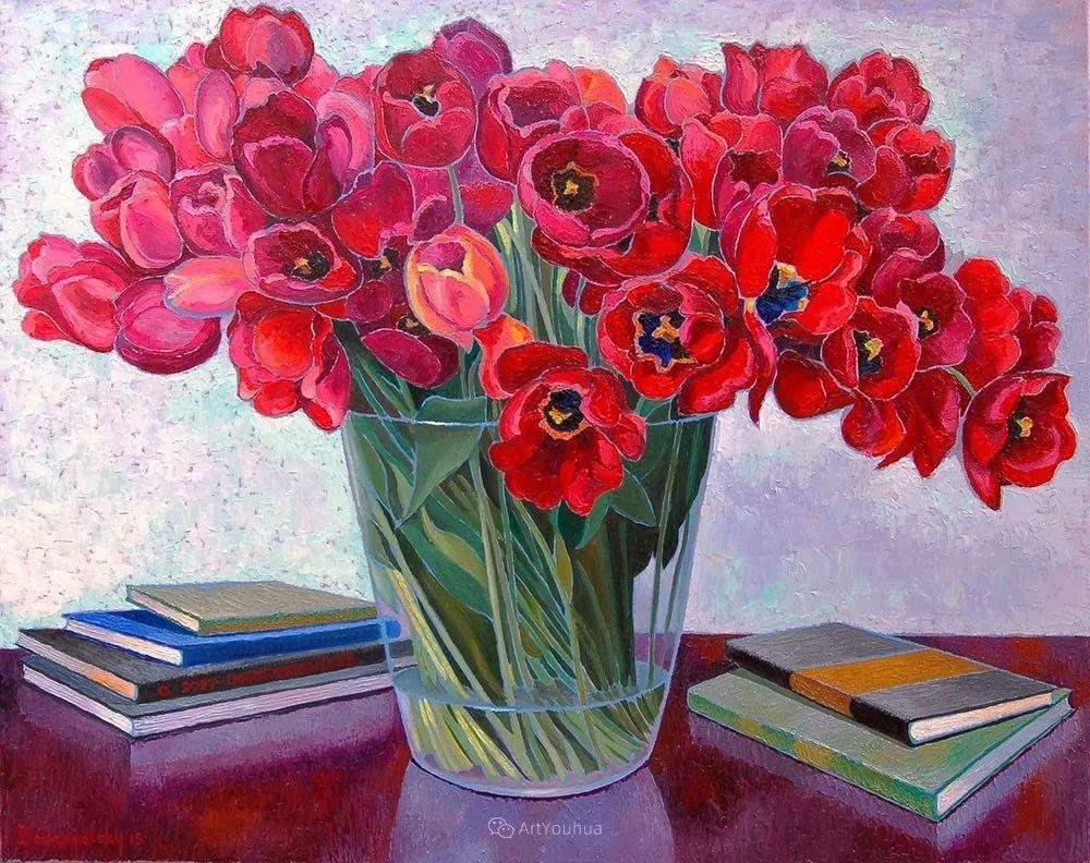 色彩纷繁的鲜花——乌克兰画家Dmitry Dobrovolsky插图75