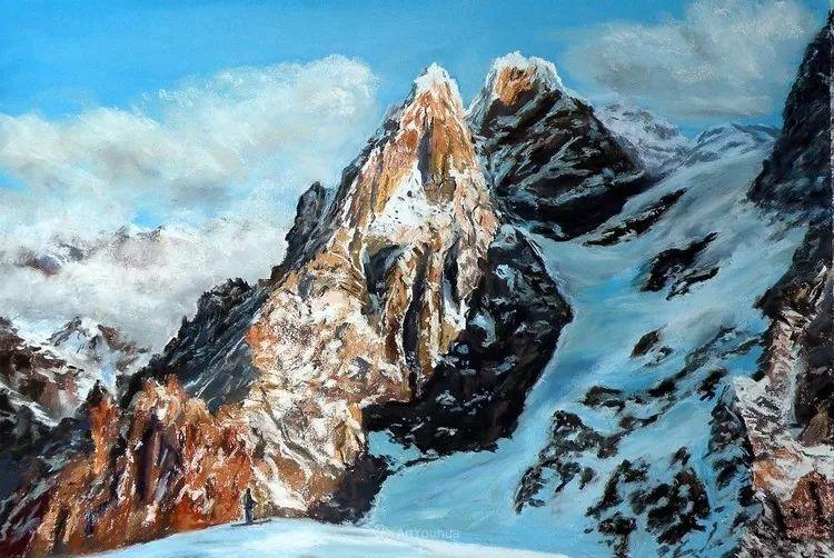 油画风景,德国籍意大利画家Lorenzo Rappelli插图2