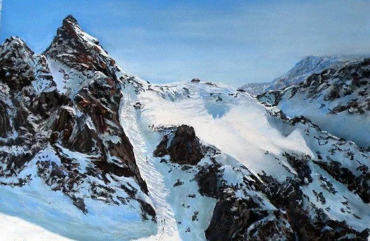 油画风景,德国籍意大利画家Lorenzo Rappelli插图3