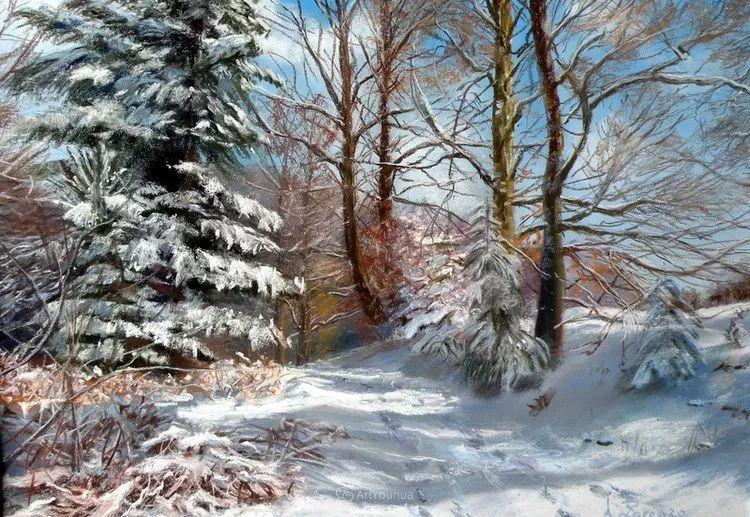 油画风景,德国籍意大利画家Lorenzo Rappelli插图5