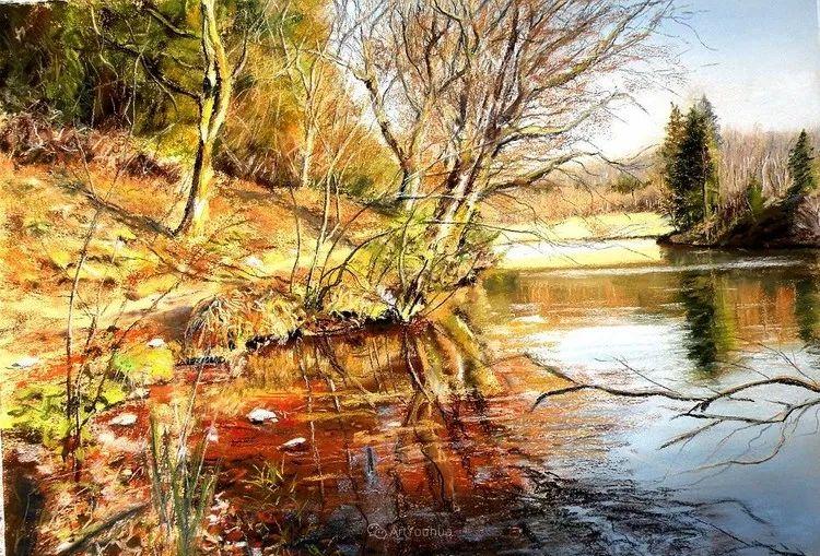 油画风景,德国籍意大利画家Lorenzo Rappelli插图7