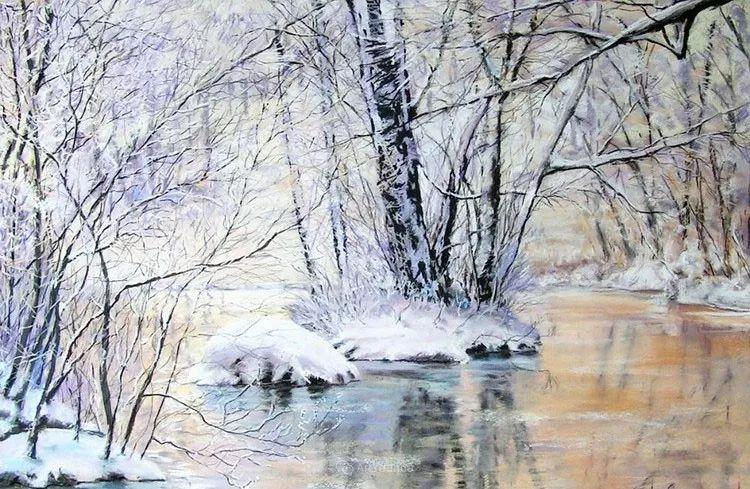 油画风景,德国籍意大利画家Lorenzo Rappelli插图8