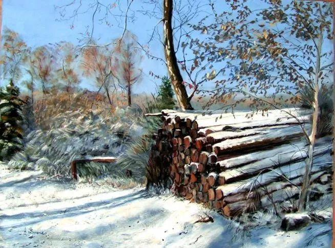 油画风景,德国籍意大利画家Lorenzo Rappelli插图10