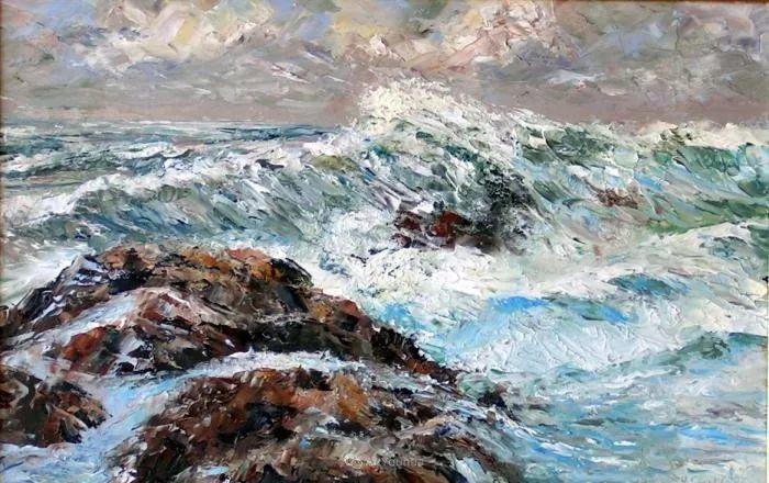 油画风景,德国籍意大利画家Lorenzo Rappelli插图13