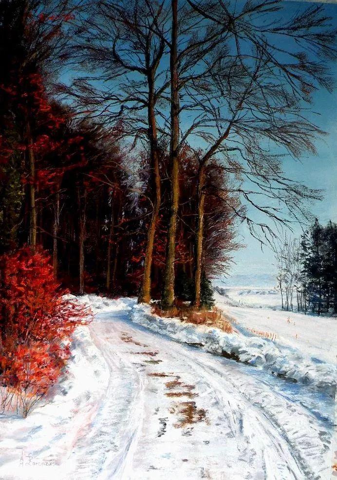 油画风景,德国籍意大利画家Lorenzo Rappelli插图15