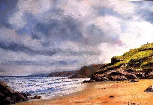 油画风景,德国籍意大利画家Lorenzo Rappelli插图16