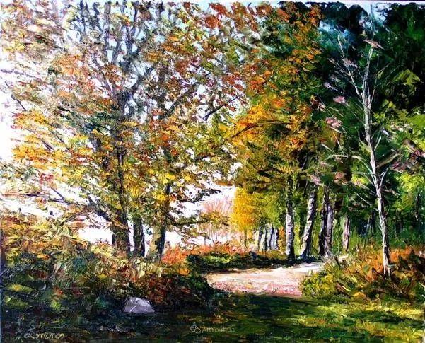 油画风景,德国籍意大利画家Lorenzo Rappelli插图29