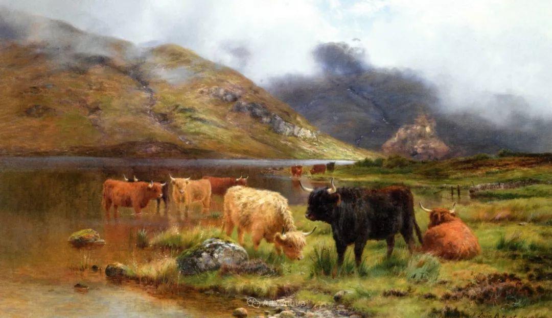高地牛与风景的完美融合,太壮观了!英国画家Louis Bosworth Hurt插图3