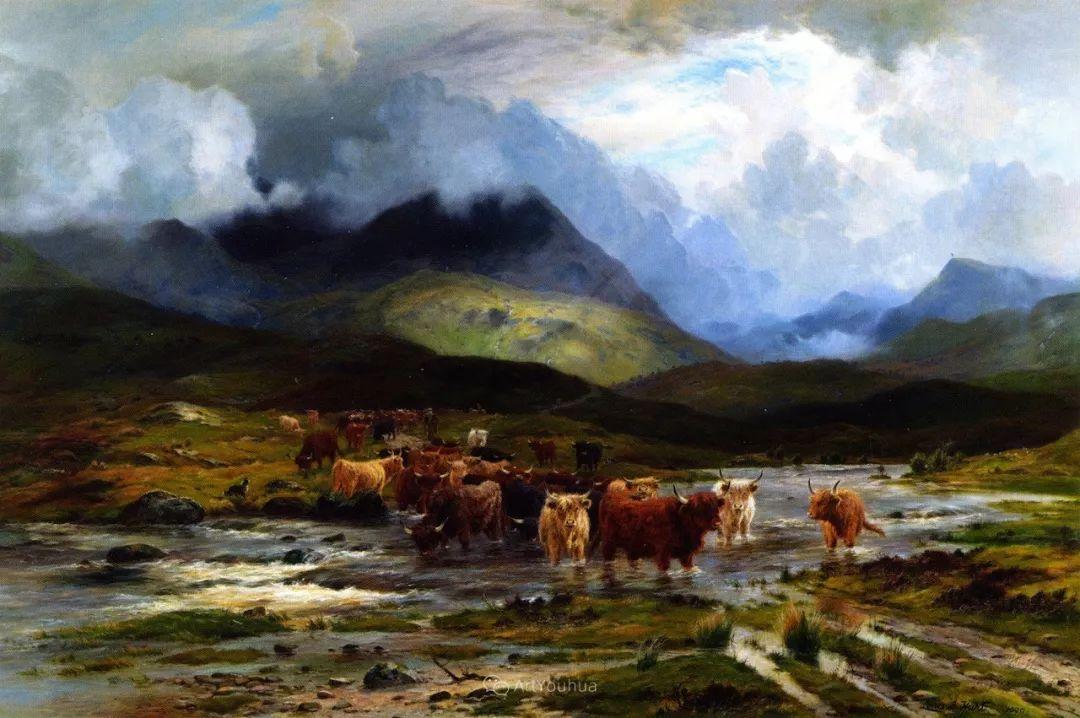 高地牛与风景的完美融合,太壮观了!英国画家Louis Bosworth Hurt插图5