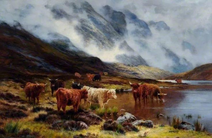 高地牛与风景的完美融合,太壮观了!英国画家Louis Bosworth Hurt插图6