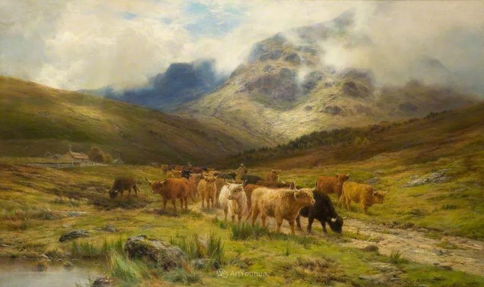 高地牛与风景的完美融合,太壮观了!英国画家Louis Bosworth Hurt插图9