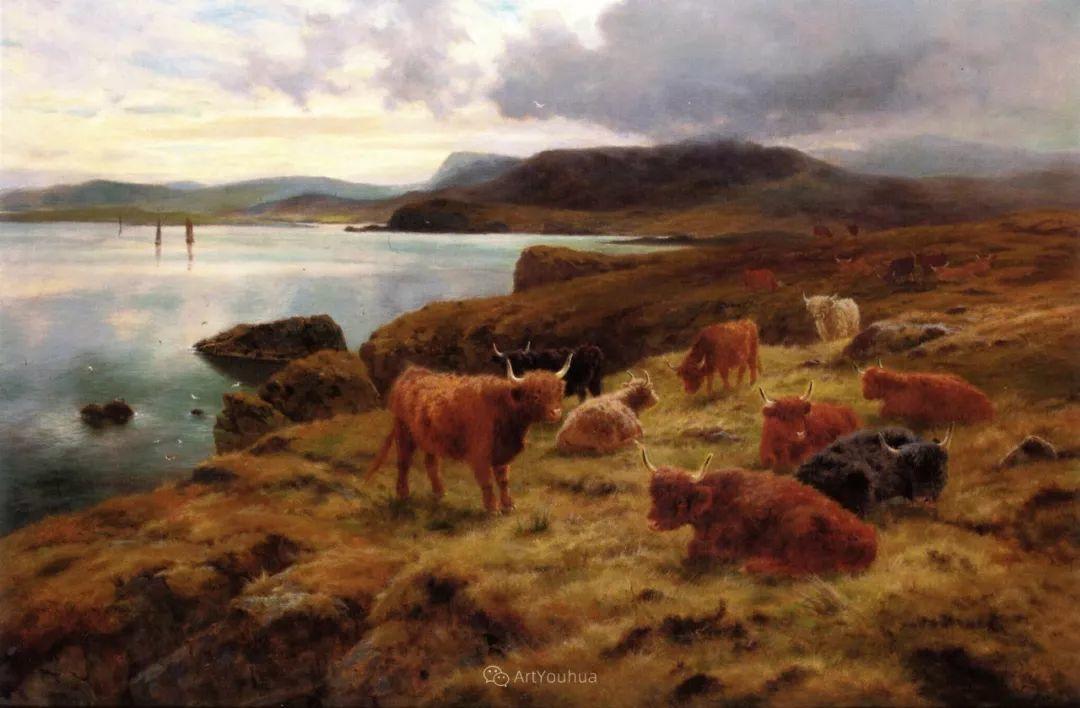 高地牛与风景的完美融合,太壮观了!英国画家Louis Bosworth Hurt插图11