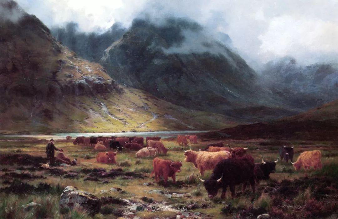 高地牛与风景的完美融合,太壮观了!英国画家Louis Bosworth Hurt插图12