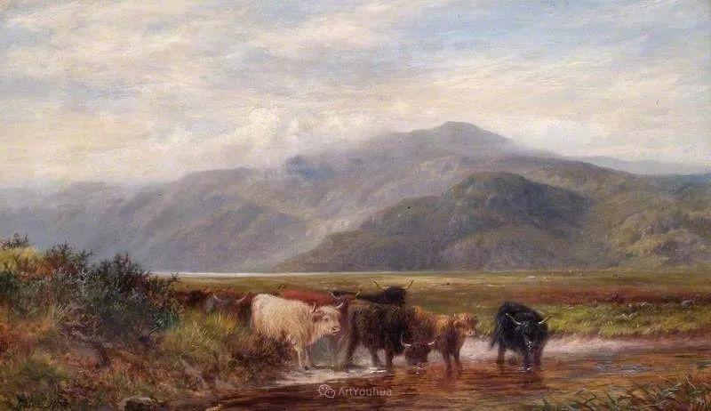 高地牛与风景的完美融合,太壮观了!英国画家Louis Bosworth Hurt插图13