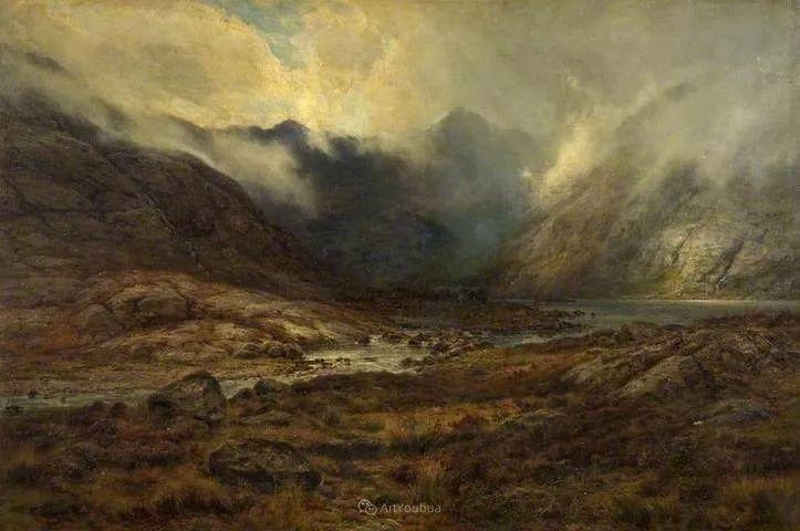 高地牛与风景的完美融合,太壮观了!英国画家Louis Bosworth Hurt插图17