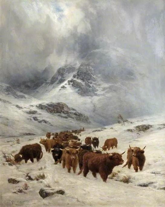 高地牛与风景的完美融合,太壮观了!英国画家Louis Bosworth Hurt插图18