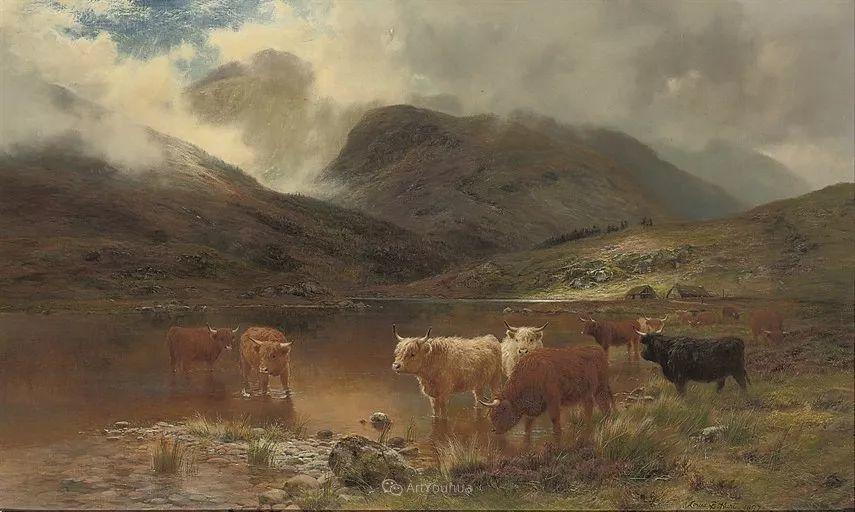 高地牛与风景的完美融合,太壮观了!英国画家Louis Bosworth Hurt插图19