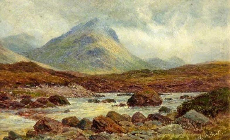 高地牛与风景的完美融合,太壮观了!英国画家Louis Bosworth Hurt插图20