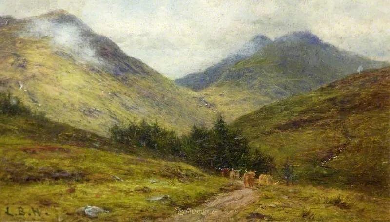 高地牛与风景的完美融合,太壮观了!英国画家Louis Bosworth Hurt插图21