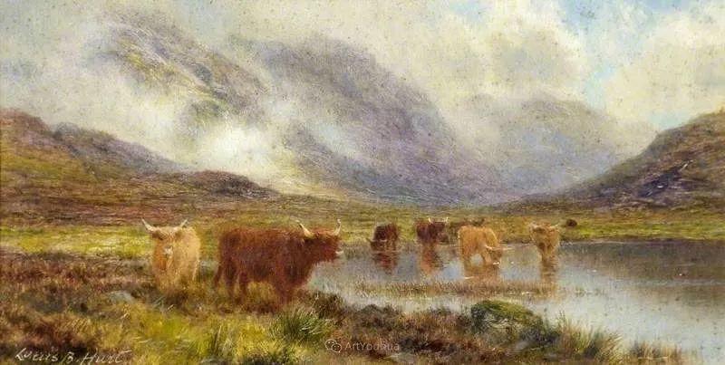 高地牛与风景的完美融合,太壮观了!英国画家Louis Bosworth Hurt插图22