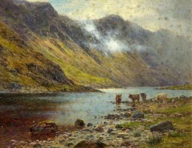 高地牛与风景的完美融合,太壮观了!英国画家Louis Bosworth Hurt插图23