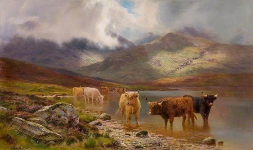 高地牛与风景的完美融合,太壮观了!英国画家Louis Bosworth Hurt插图24