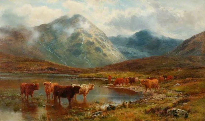 高地牛与风景的完美融合,太壮观了!英国画家Louis Bosworth Hurt插图25