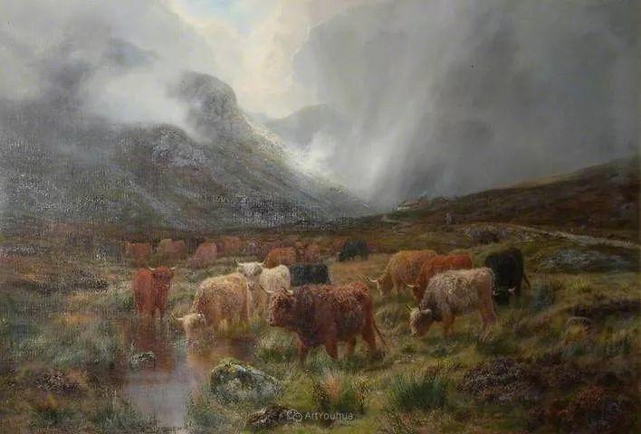 高地牛与风景的完美融合,太壮观了!英国画家Louis Bosworth Hurt插图26