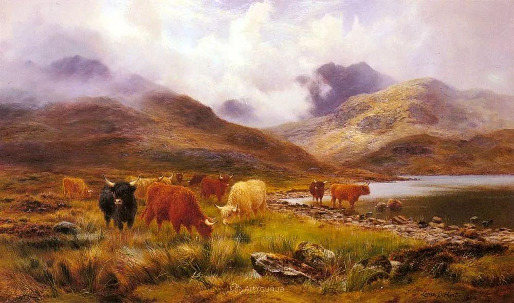 高地牛与风景的完美融合,太壮观了!英国画家Louis Bosworth Hurt插图27