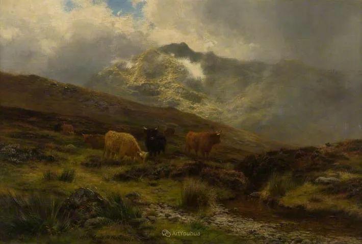 高地牛与风景的完美融合,太壮观了!英国画家Louis Bosworth Hurt插图28