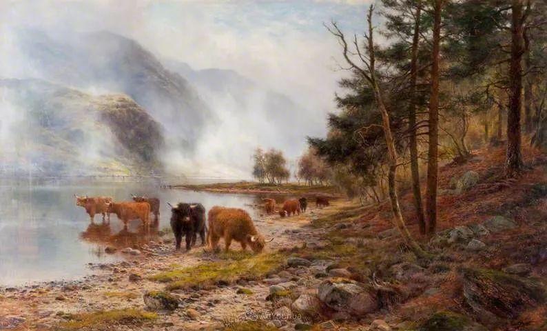 高地牛与风景的完美融合,太壮观了!英国画家Louis Bosworth Hurt插图30