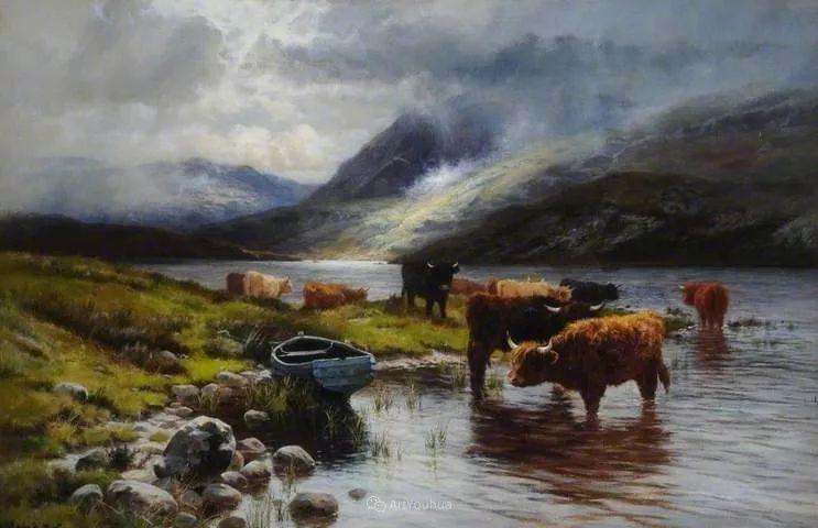 高地牛与风景的完美融合,太壮观了!英国画家Louis Bosworth Hurt插图31